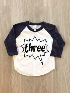 3rd Birthday  Third Birthday  baby boy or by 8thWonderOutfitters