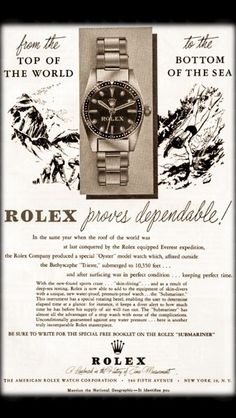 1954 Vintage Rolex Advertisement #rolex #vintagerolex #rolexad #rolexadvert vintagehour #vintagehourwatches