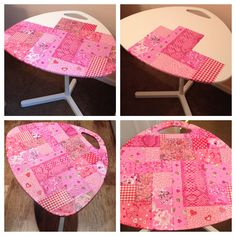 Decopatch - Ikea laptop table - in pink by me!!