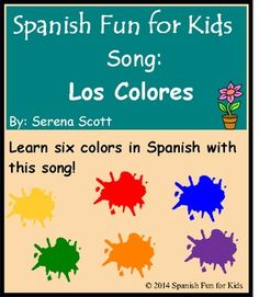 Los Colores is a fun song that teaches six colors in Spanish!  These colors are: yellow, red, blue, green, orange and purple. This song is musically appealing and easy to catch and learn.  It is appropriate to use in Pk through second grade and excellent for Pk and Kindergarten programs, graduations, and show and tell.
