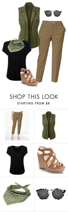 """""""Casual Summer Fashion For Women Over 40"""" by creativecaincabin on Polyvore featuring Charter Club, LE3NO, Alexander Wang, Jennifer Lopez, Steve Madden and Illesteva"""