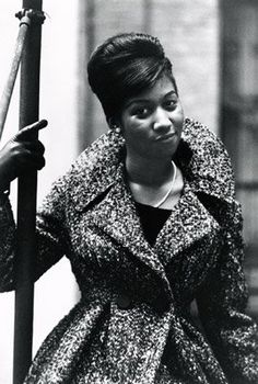 I love Aretha's hair in this photo and her outfit :) | Happy 70th Birthday to The One and Only Aretha Franklin!