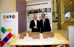 #Illy signs as #Expo2015 Official Partner and takes part in the #ClusterCoffee. #Exposigns #ExpoMilano2015 #AndreaIlly #Coffee