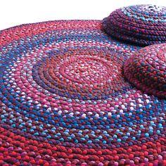 Monte Você Mesmo: Abril 2012- tapete de fio de malha
