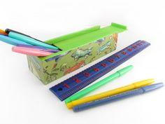 Back to School Pencil Box  Vintage Retro Kiddie by Walter Silva, $15.00