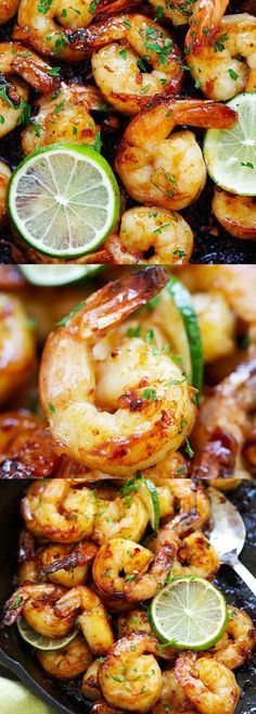 Garlic Honey Lime Shrimp – garlicky, sweet, sticky skillet shrimp with fresh lime. This recipe is so good and easy, takes only 15 mins to make | rasamalaysia.com