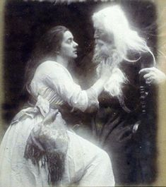Vivien and Merlin by Julia Margaret Cameron (1815 to 1879)