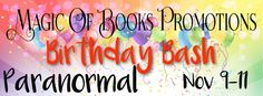 Tracey A Wood's - The Author's Blog - Blog spot: MoB's 3rd Birthday Bash Paranormal Promo Tour + #G...