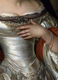 Judith, detail, by Eglon van den Neer, 1676.