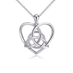 925 Sterling Silver Good Luck Irish Celtic Knot Triangle Vintage Love Heart Pendant Necklace, 18 inches  http://stylexotic.com/925-sterling-silver-good-luck-irish-celtic-knot-triangle-vintage-love-heart-pendant-necklace-18-inches/