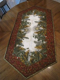 60 degree Christmas table runner by Pat