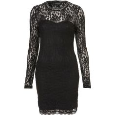 Lace High Neck Bodycon Dress ($72) found on Polyvore