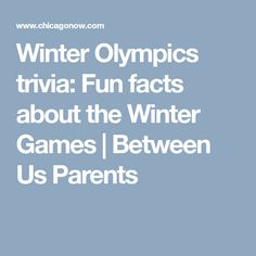 Winter Olympics trivia: Fun facts about the Winter Games | Between Us Parents