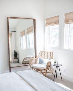 Bedroom Corner, Room Ideas Bedroom, Home Decor Bedroom, Airy Bedroom, Bedroom Chair, Scandinavian Bedroom Decor, Bedroom Designs, Scandinavian Interior Design, Bedroom Mirrors