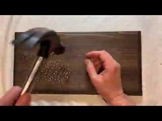 """String Art - Time Lapse - """"home"""" - Rustic Home Accent - Made in Canada - DIY home decor Satisfying Video, Dark Walnut Stain, String Art, Home Accents, Wall Collage, Diy Home Decor, My Etsy Shop, Channel, Content"""