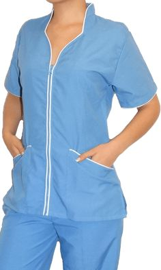 blusa para uniformes de spa Spa Uniform, Scrubs Uniform, Housekeeping Uniform, Scrubs Outfit, Nurse Costume, Templer, Medical Uniforms, Medical Scrubs, Nursing Clothes