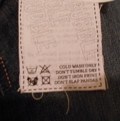 So my new shirt arrived today and this was on the label. - Imgur