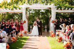 Outdoor wedding ceremony at Villa de Amore in Southern CA.  http://villadeamore.com