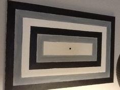 Rectangles concentrics , pintura a l,oli sobre tela