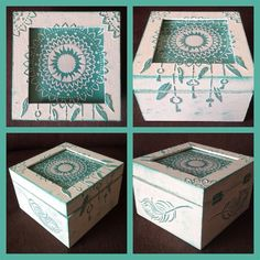 Mixed Media box dreamcatcher made by Carla Wolf