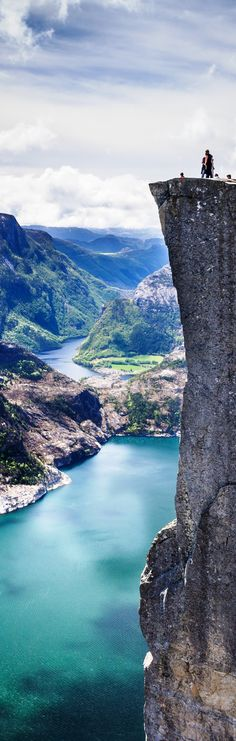 Pulpit Rock, Lysefjord in Rogaland, Norway.