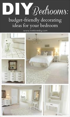 Delightful DIY Bedrooms: Budget Friendly Decorating Ideas Anyone Can Use! You Wonu0027t  Believe What This Bedroom Used To Look Like! Budget Friendly Home Decor