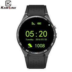 Smart Watch Bluetooth Heart Rate Pedometer Support WIFI GPS Navigation Cell Phone for Android and IOS Smartwatch (black) Android Gps, Samsung Android Phones, Android Wear, Ios Phone, Smartwatch, Quad, Camera Watch, New Gadgets, Heart Rate Monitor