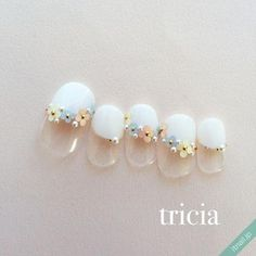 Japanese Nail Design, Japanese Nail Art, Gel Nail Art Designs, Cute Nail Designs, Nails Design, Cute Nails, Pretty Nails, Sunflower Nail Art, Subtle Nail Art