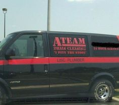 A Team Plumber--I pity the stool The Ateam, Plumbing Humor, College Stories, Hump Day Humor, Plumbing Emergency, Plumbing Problems, Insulation Materials, Sign Writing, Drain Cleaner