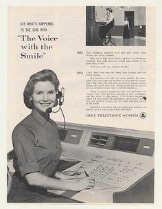 Bell Telephone Switchboard Operator Photo (1961)