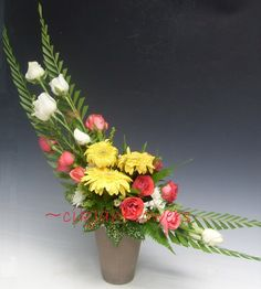 .. cikjahonlineflowers: Crescent Shaped Floral Arrangement .....Gubangan bentuk Bulan Sabit