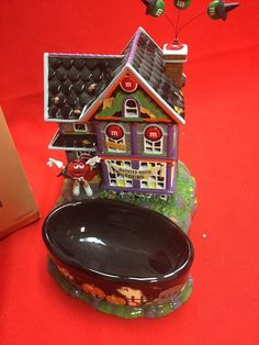 M M Dept 56 Haunted House Tours and Candy Dish | eBay