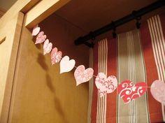 Valentine's Day Paper Heart Garland