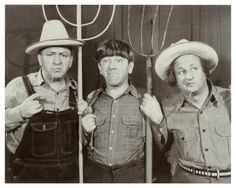 The Three Stooges  ~  Gardening would  be so fun with them!  ;-)