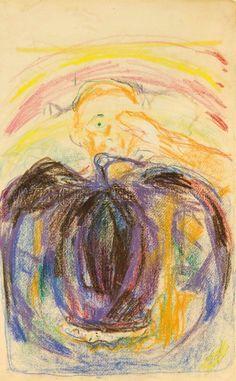 Edvard Munch The Artist's Injured Eye (and a figure of a bird's head) 1930-1931