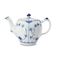 """Royal Copenhagen """"Blue Fluted Half Lace"""" Teapot   Bloomingdale's"""