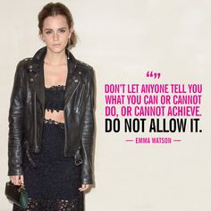 The 10 Most Empowering Things Emma Watson Said in 2015 Emma Watson Frases, Emma Watson Feminism, Emma Watson Quotes, Empowerment Quotes, Women Empowerment, Powerful Quotes, Powerful Women, John Maxwell, Girl Power Quotes