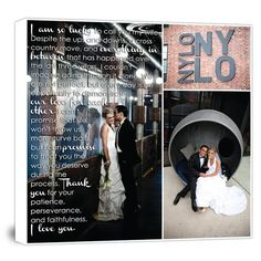 Ideas for your home - your wedding photos on canvas with lyrics.