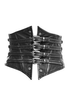 Bestia Corset Belt by Punk Rave is made from faux leather. It is detailed with silver-tone buckles to the front, metal studs and lacing to the back with skull charms.