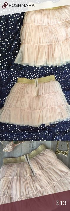 "Ballet Pink Mini Tulle Skirt Ballet pink mini skirt by Twelve by Twelve. Forever 21. Had gold waistband. Zipper back. Size: Small. Approx. 16"" long. Waist: 13.5"". Very cute. Thanks for looking! Forever 21 Skirts Mini"