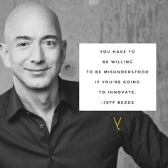 You have to be willing to be misunderstood if you're going to innovate. - Jeff Bezos __ #everythingtheydid #leadership #leader #leaders #worldchangers #societyrebel #generosity #trendsetters #influencer #boss #career #innovative #servantleader #entrepreneur  #focus #confidence #successful #challenge #action #attitude #motivation #development #leaderquotes #inspiration #wisdom #purpose #lead #results #amazon #jeffbezos