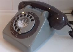Original Vintage Retro 1960's GPO 706 Rotary Dial Grey Telephone *Restored*