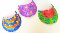 Make a colourful paper plate sun visor at your campsite and wear it for your whole trip!