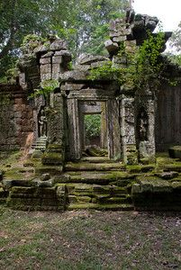 Back Ruin Doorway - Angkor, Cambodia