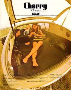 Ad for Nissan Cherry, circa 1973