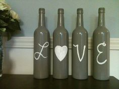Decorative Wine Bottles lets make these for our room/house