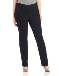 Jag Jeans Women's Plus-Size Peri Pull-On Straight Leg