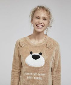 2baeb395a5 Oysho - Sudadera teddy bear Pijama De Oso