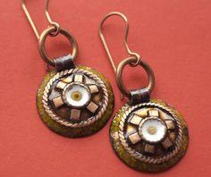 Copper handmade earrings. Hypoallergenic earrings. by CopperChic