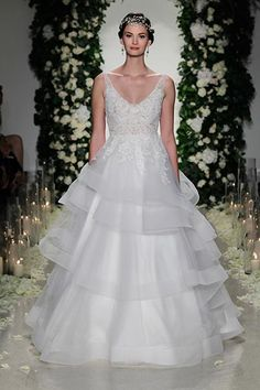 Wedding gown by Anne Barge.